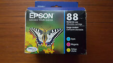 2018 GENUINE LOT 3 EPSON #88 INK T0882-T0884 STYLUS CX4400/CX7400/NX100/NX300