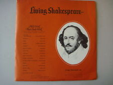 "Living Shakespeare, SWW-17/18 ""ALL'S WELL THAT ENDS WELL"" Vintage 1962 LP"