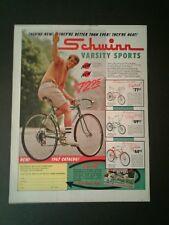 1967 Schwinn Ram's Horn Fastback/Typhoon Bicycle Bike Vintage Trade Print Ad