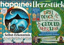 Zeitschrift  Happinez 8 / 20 + Herzstück März April 2 / 21 Frauen Magazine Neu