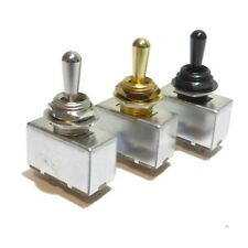More details for electric guitar toggle switch rhythm treble 3 way chrome black or gold metal tip