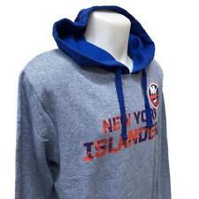 NHL Men's New York Islanders Hoody Sweatshirt Large Hoodie Blue Distressed