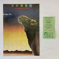 CAMEL - Victoria Hall Hanley 8th October 1978 Tour Programme & Ticket Stub