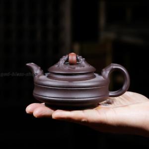 handmade tea pot real yixing zisha tea pot marked good luck kungfu pot of tea