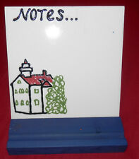 Grand Traverse Lighthouse Northport Lake Michigan Dry Erase Tile w/ Wooden Stand