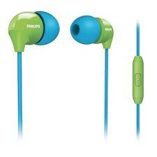 philips she3575bg/10 universal in-ear headset iphone-blau/grün