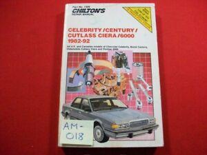 1982-92 BUICK CENTURY,OLDS CUTLASS SIERRA, CHEVY CELEBRITY, PONTIAC 6000 REP MAN