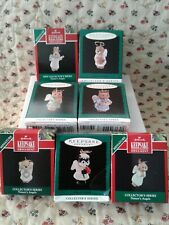 Hallmark Miniature Ornaments Complete Series 1-7 Nature'S Angels New Mib