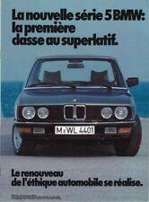 Catalogue Brochure BMW Serie 5 E28 1981 France