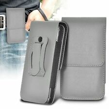 Vertical Belt Clip Quality Pouch Holster Top Flip Case Holder✔Grey