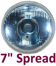 "1 x 7"" Round Spread Wide Beam Landrover Series 1 2 2A 3 H4 Hi/Lo Headlight Light"