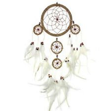 Large Twine & White Feather Dreamcatcher Rustic Natural Wall Hanging Home Decor