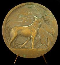 Médaille Le berger et son chien moutons brebis art-déco 1930 84mm essai medal
