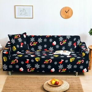 2022 Merry Christmas Elastic Sectional Corner Sofa Cover Slipcover Couch Covers