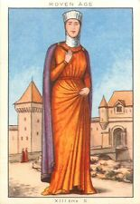 COSTUME FEMME WOMAN MOYEN MIDDLE AGE XIII EME SIECLE IMAGE CARD 50s