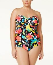 958a1d62d0 Anne Cole Plus Size 18W Growing Floral Ruched One Piece Maillot Swimsuit  NWT$120