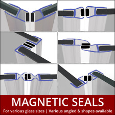 Magnetic Shower Seal Strips| Sold In Pairs (Set of Two) | Shower Door Enclosure