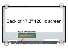 """Replacement 17.3"""" Laptop LCD FHD IPS Display For Innolux N173HCE-G32 40 Pin eDP"""