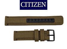Citizen Original Eco-Drive Men's  BU2055-08X TAN Canvas 20mm Watch Band Strap