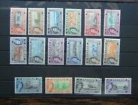 Bahamas 1954 - 62 set to £1 MNH SG201 - SG216 MNH