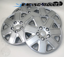 """#026 Replacement 16"""" Inches Metallic Silver Hubcaps 4pcs Set Hub Cap Wheel Cover"""