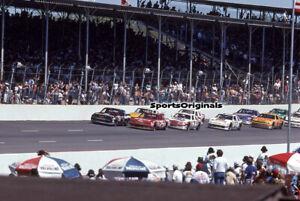 EARNHARDT vs SCHRADER - NASCAR- DARLINGTON- 1988  - Original 35mm Color Slide