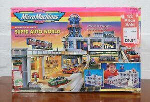 Vintage Micro Machines Super Auto World Garage Toy in Box from 1998's