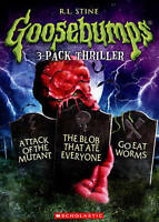 GOOSEBUMPS ATTACK OF THE MUTANT/BLOB THAT ATE EVERYONE/GO EAT WORMS (DVD) NEW