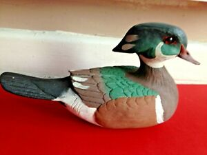 1985 Craft Tex American Wild Fowl Series Wood Painted Signed Duck Decoy
