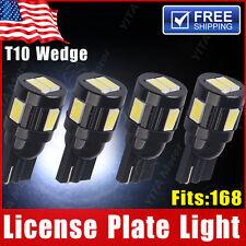 4X Xenon White T10 License Plate Side Wedge5630 6-SMDHeatsink LED Light 168