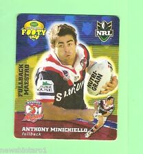 2007 GOLD SERIES  RUGBY LEAGUE TAZO - #31 ANTHONY MINICHIELLO,  SYDNEY ROOSTERS