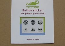 Black White Home Button Protector Epoxy Sticker For Apple iPod iPhone 4S 5S iPad