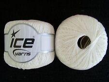 Summer Sheen crochet thread/yarn, white, 2 balls (220 yds each)