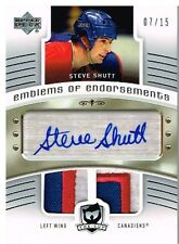 05-06 The Cup EMBLEMS OF ENDORSEMENTS 07/15 Made! Steve SHUTT - Canadiens