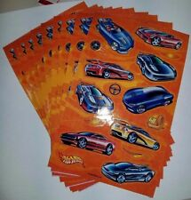"Sandylion Hot Wheels Stickers lot of 5 SHEETS size 4"" X 6"""