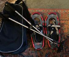 Ll Bean Snowshoes Winter Walker 16 Youth Size Aluminum Frame Snowshoes/Poles/Bag