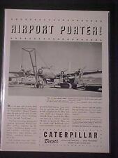RARE VINTAGE MILITARY 1942 CATERPILLAR ARMY WAR CRANE ART PRINT AD~ ANTIQUE WWII