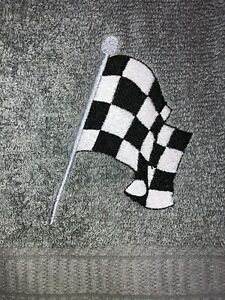 Embroidered Gray  Mainstays Bathroom Bath Sheet  CHECKERED FLAG RACING