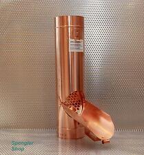 1 St. Regenwasserklappe, Regenrohrklappe, Fallrohrklappe aus Kupfer