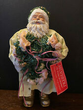 "Christmas Decor by Silvestri 12"" Fabric Mache & Resin Santa Collectible"