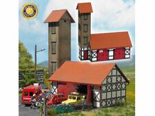 Busch 1452 Feuerwehr Gerätehaus Ilfeld echt Holz H0 Bausatz Neu
