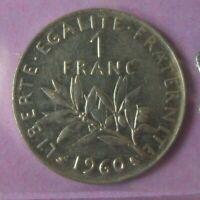 1 franc Semeuse 1960 petit 0 : SUP : pièce de monnaie française N27