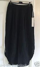 Italian PLUS SIZE Ladies LAGENLOOK Pocket Stretch LINEN Baggy 3/4 Trousers 14-20