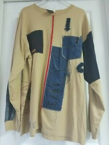 Mens Pepe Jeans UK Long Sleeve Shirt Embroidered/Patched Logo Size XL
