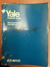 YALE MAINTENANCE AND PARTS MANUAL SPE 030-050, ITD- 1097