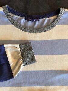 Pullover Laurel Pulli Streifen blau, beige, silber