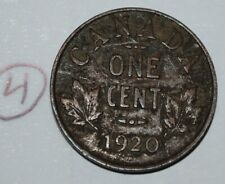 Canada 1920 1 Cent Copper Coin One Canadian George V Penny Lot #4