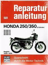 Buch Reparaturanleitung Honda CB 250 / 350 250/350 (2-Zyl) 1970-1974 Bd 501