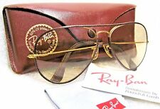 RAY-BAN *NrMINT B&L VINTAGE AVIATOR *LEATHERS *SUPER-CHANGEABLES SUNGLASSES&CASE