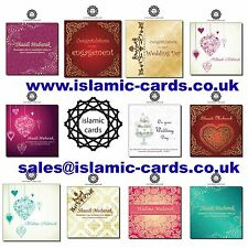 High Quality Affordable Muslim Wedding Walima Shaadi Cards 150x150mm